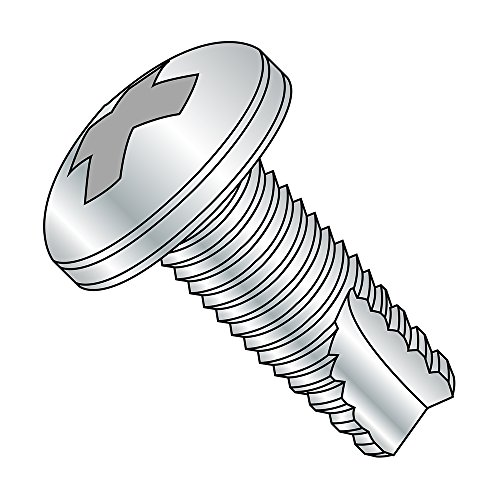 Type F Steel Thread Cutting Screw #10-24 Thread Size Black Oxide Finish Pack of 50 Pan Head 1 Length Phillips Drive