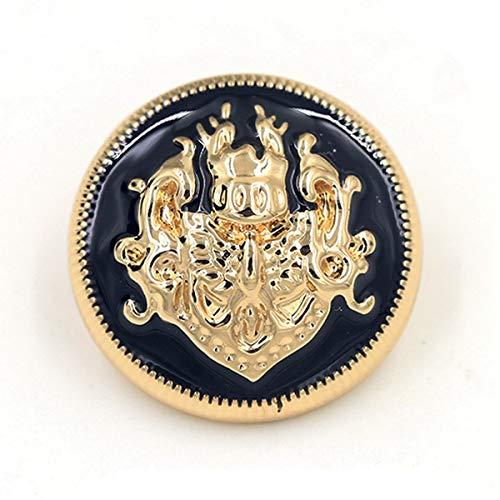 cappotto uomo 4 bottoni 10 Pcs 10 28mm nero blu oro e argento bottoni in metallo per abbigliamento jeans giacca cappotto donna uomo forniture per cucire