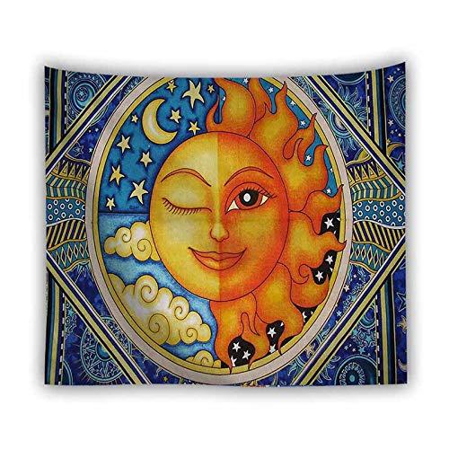 JXWR Tarot Sun Moon Tapiz Colgante de Pared brujería Tapiz de Fondo Decorativo Tapiz de Pared Retro Tapiz de Tela de Pared 150x100cm