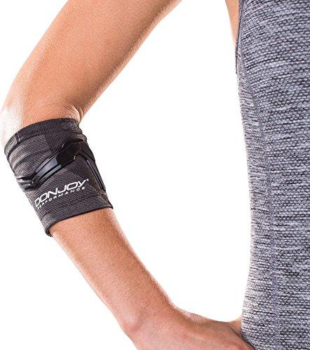 DonJoy Performance TRIZONE Compression Sleeve: Tennis/Golfers Elbow Support, Black, X-Large