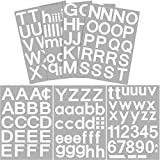 176 Pieces 7 Sheets Self-Adhesive Vinyl Letters Numbers Kit, Mailbox Numbers Sticker for Mailbox, Signs, Window, Door, Cars, Trucks, Home, Business, Address Number, 2 Inches High, White