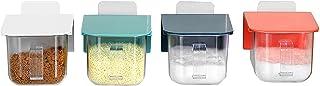 Pkfinrd 4pcs Conteneur d'épices Ensemble de l'assaisonnement Set Spice Trakister Condiment Jar Stockage de Nourriture Cont...