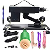 Sëx Machine Guns Automatic Thrusting Machine Adult Machine Adjustable 3XLR Connector Massage Machine with 7 Attachments for Men Women and Couples