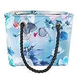 ZhujiaN Sacca da Bagno Pieghevole Impermeabile Portatile da Bagno Pieghevole da Nuoto Fitness Borsa da Bagno Multifunzione (Color : Blue)
