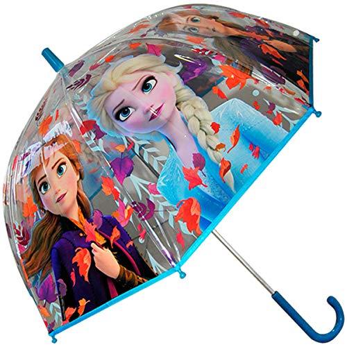 Paraguas Burbuja Manual Transparente Frozen 2 Disney 47cm