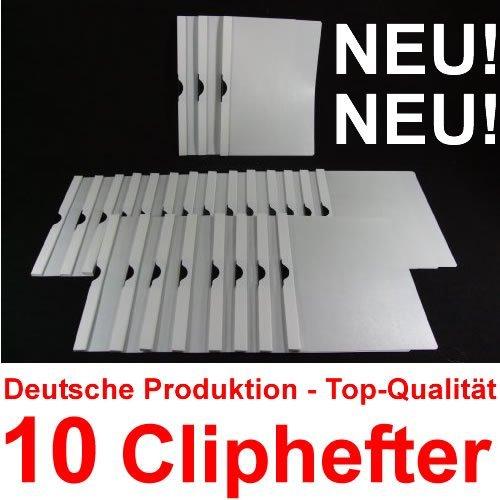Bewerbungsmappen Cliphefter Klemmmappen 10 Stück in WEIß