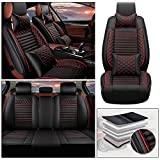 Maiqiken Custom Car Seat Cover for Dodge RAM 1500 2500 5-Seat PU Leather Seat Pad Protector Full Set (Luxury)
