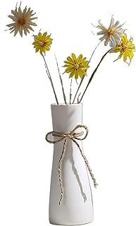 Jarrón de cerámica blanco I3C decoración del hogar moderno florero de porcelana diseño mate para uso doméstico y oficina (A)