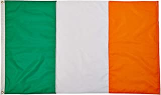 WOWFLAG Ireland Flag 3x5 FT, Irish Flags with Sewn Stripes (Not Print), Canvas Header & Brass Grommets, Vivid Color, Triple Stitching, 100% High-Grade Nylon for All-Weather Outdoor Display