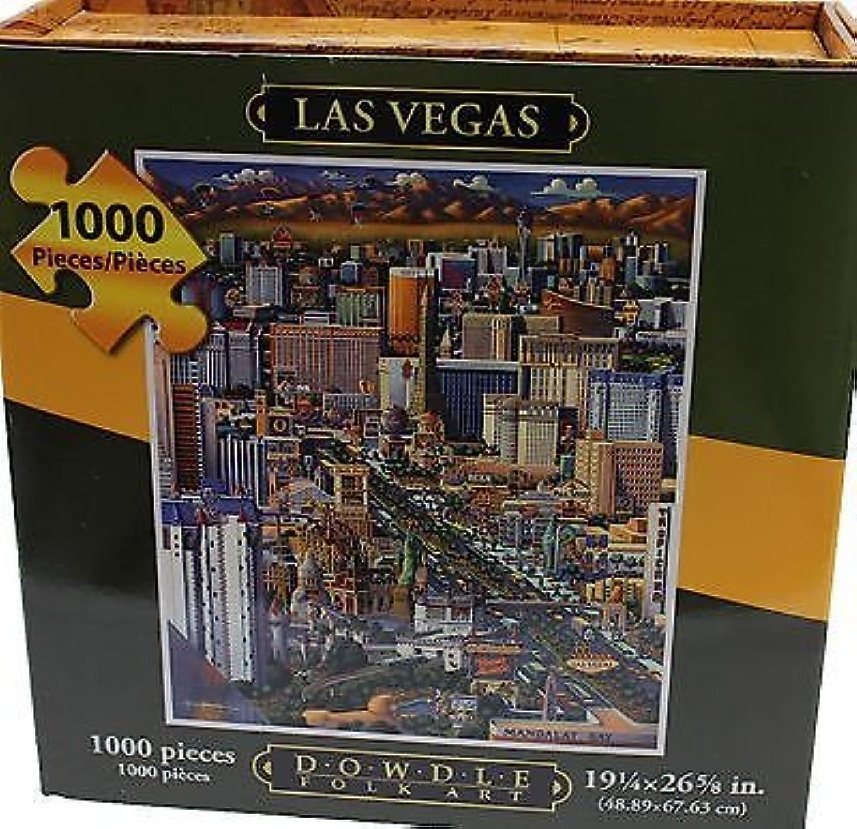 Dowdle Folk Art 1000 Piece Puzzle Las Vegas by Eric Dowdle