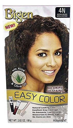 Bigen Easy Color Permanent Hair Dye avec aloès et d'huile d'olive, noir naturel, 3 Ounce