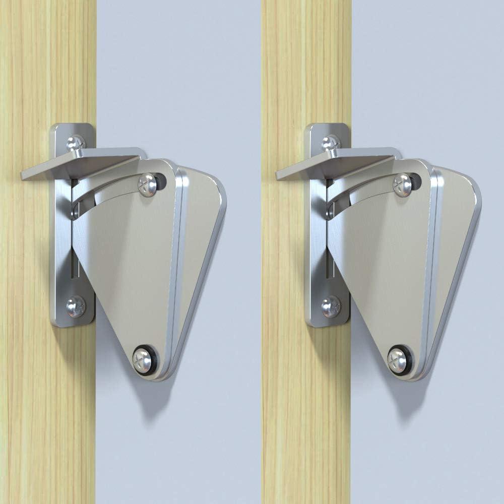 skysen 2Pcs Stainless Steel Sliding Barn Door Hardware Large Size Latch Lock Privacy Lock dsbxg-2 Pack