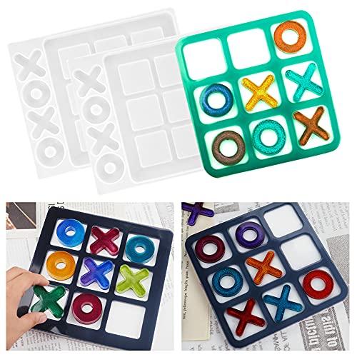 Iriisy Molde de Resina de Silicona,para Juego de ajedrez, molde de epoxi de cristal,para juegos de mesa para adultos/niños, interior/exterior