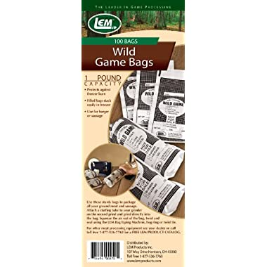 LEM Products One Pound Wild Game Bags (100 Bags)