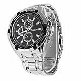LEORX CURREN–Reloj de cuarzo para hombre, esfera redonda, correa de acero inoxidable resistente al agua, reloj de pulsera