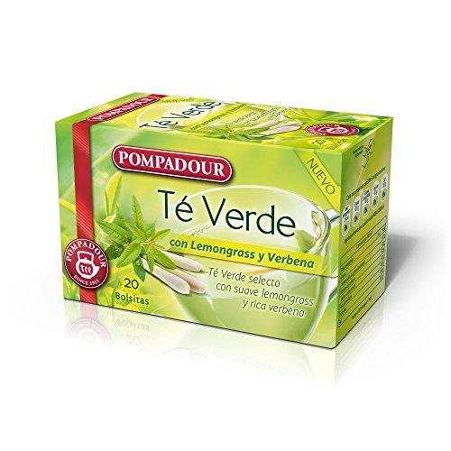 Pompadour Té Verde con Lemongrass y Verbena - 20 Bolsitas