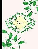 Carnet de notes A4 ligné: Carnet de notes original & fantaisie, taille de jumbo, bouquet de feuilles, belle papeterie rétro et originale