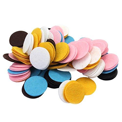 PULABO200 piezas de 30 mm de fieltro redondo acolchado centro de flores para coser tarjetas, manualidades