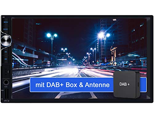 Tristan Auron BT2D7025A Android 10.0 Autoradio + DAB+ Box I 7'' Touchscreen GPS Navi Bluetooth Freisprecheinrichtung I 32GB ROM I USB SD OBD 2 DAB Plus I 2 DIN