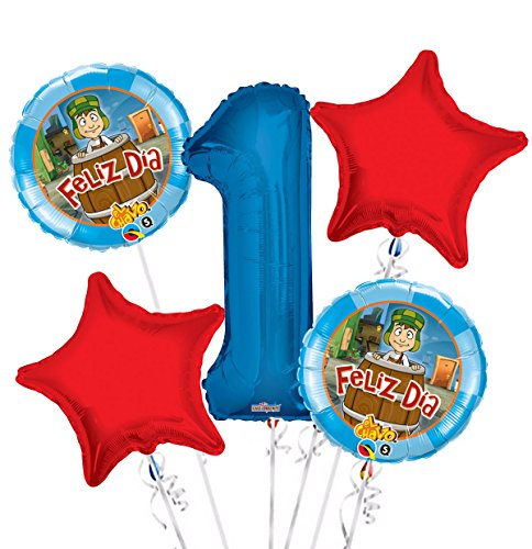 El Chavo Balloon Bouquet 1st Birthday 5 pcs - Party Supplies ST02