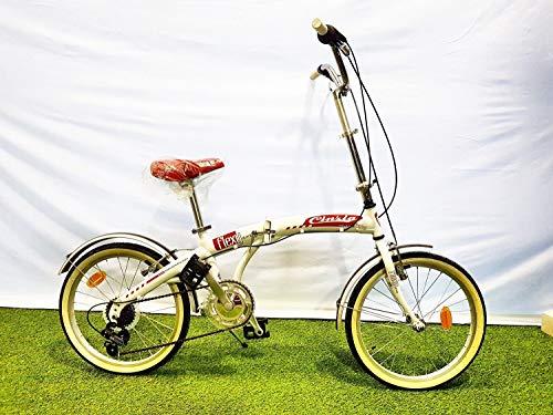 CINZIA Bici Bicicletta 20'' Pieghevole Flexy Cambio 6V Rossa
