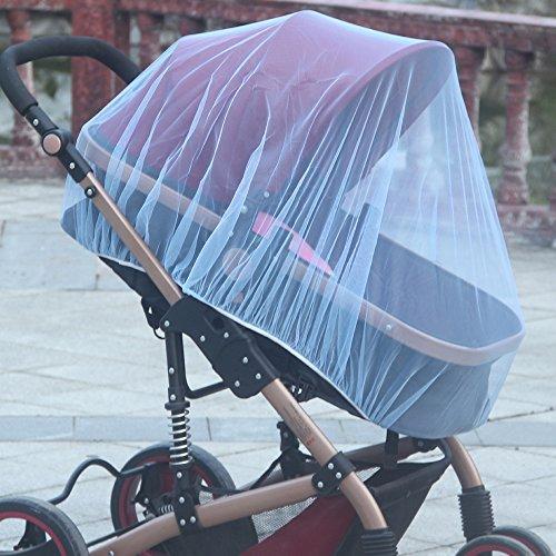 NIBESSER Moustiquaire Universelle pour Landau Poussette et Lit Parapluie Protection Anti-Insectes /à Mailles R/ésistante Solide et Lavable Contre Les Piq/ûres pour B/éb/és Enfants
