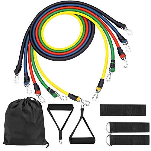 O RLY Fitness Resistance Bands Widerstandsband Set Trainer Straps Gymnastikband Trainingsbänder Fitnessbänder Expander Set M2