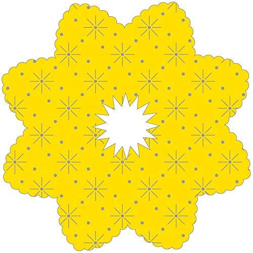 Tropfenringe aus Tissue in Gelb, Ø100mm, Innenloch 22mm, 250 Stück - Mank