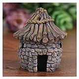 ZHJKK Mini Castillo Casa Pequeña Casa Jardín de Hadas Miniaturas Figuras Terrarios DIY Crafts Figura Musgo Adorno Micro Paisaje Decoración (Color : J)