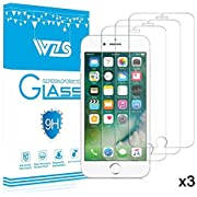 "WZS iPhone 7, 6, 6S, 8 Screen Protector, [3-Pack] Premium Tempered Glass with 99.99% HD Clarity and 3D Touch Accuracy, Tempered Glass Screen Protector for iPhone 6S, iPhone 6,iPhone 8, 7 [4.7"" inch]"