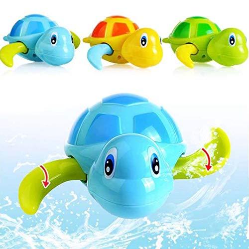 Wellouis Nette kleine Schildkröte schwimmende Säuglingsschwimmen-Spielwaren, Baby-Bad-Spielzeug für Schwimmbad-Wannenbad-Strand