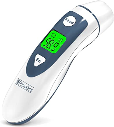 Ear Thermometer with Forehead Function - FDA Approved for Baby and Adults - iProven DMT-