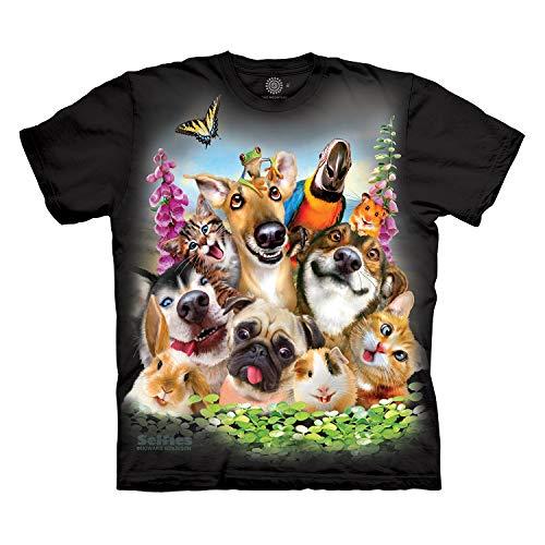 The Mountain Men's Pet Selfie T-Shirt, Black, L