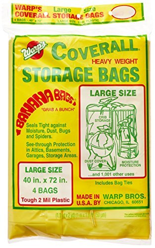 Warp Brothers CB-40 Banana Bags Storage Bags, 40-Inches by 72-Inches, 4-Count by Warp Brothers (English Manual)