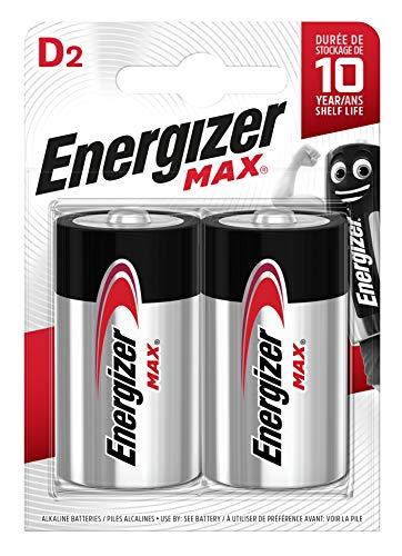 Energizer Max D Alkali Batterien, 2 Stück