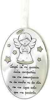 ANGELITO AZUL MEDALLA DE CUNA BILAMINADA EN PLATA DEAM 3092C