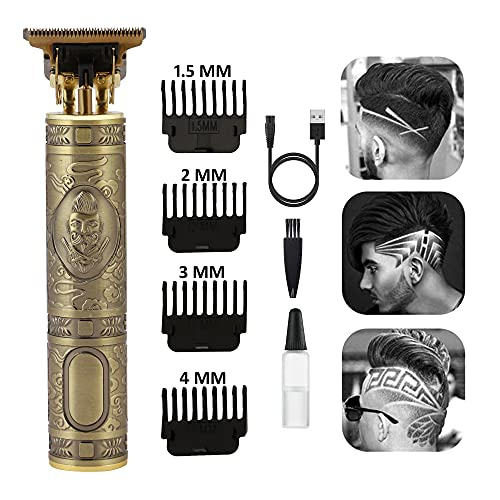 CONTARE Hair Clippers for Men,Electric Outline Trimmer T Blade Trimmer Grooming Cordless Zero Gapped Trimmers Rechargeable Electric Hair Clippers