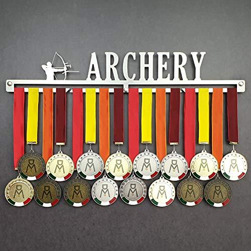 Archery - Colgador de medallas Deportivas - Medallero de Pared Tiro al Arco, Arquero - Sport Medal Hanger - Display Rack (450 mm x 80 mm x 3 mm)