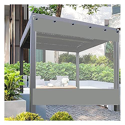 GZHENH Cortina Impermeable para Patio, Cortina Al Aire Libre con Ojales Resistencia Al Clima para Pérgola Porche Kiosko Lona Impermeable Transparente, Personalizable