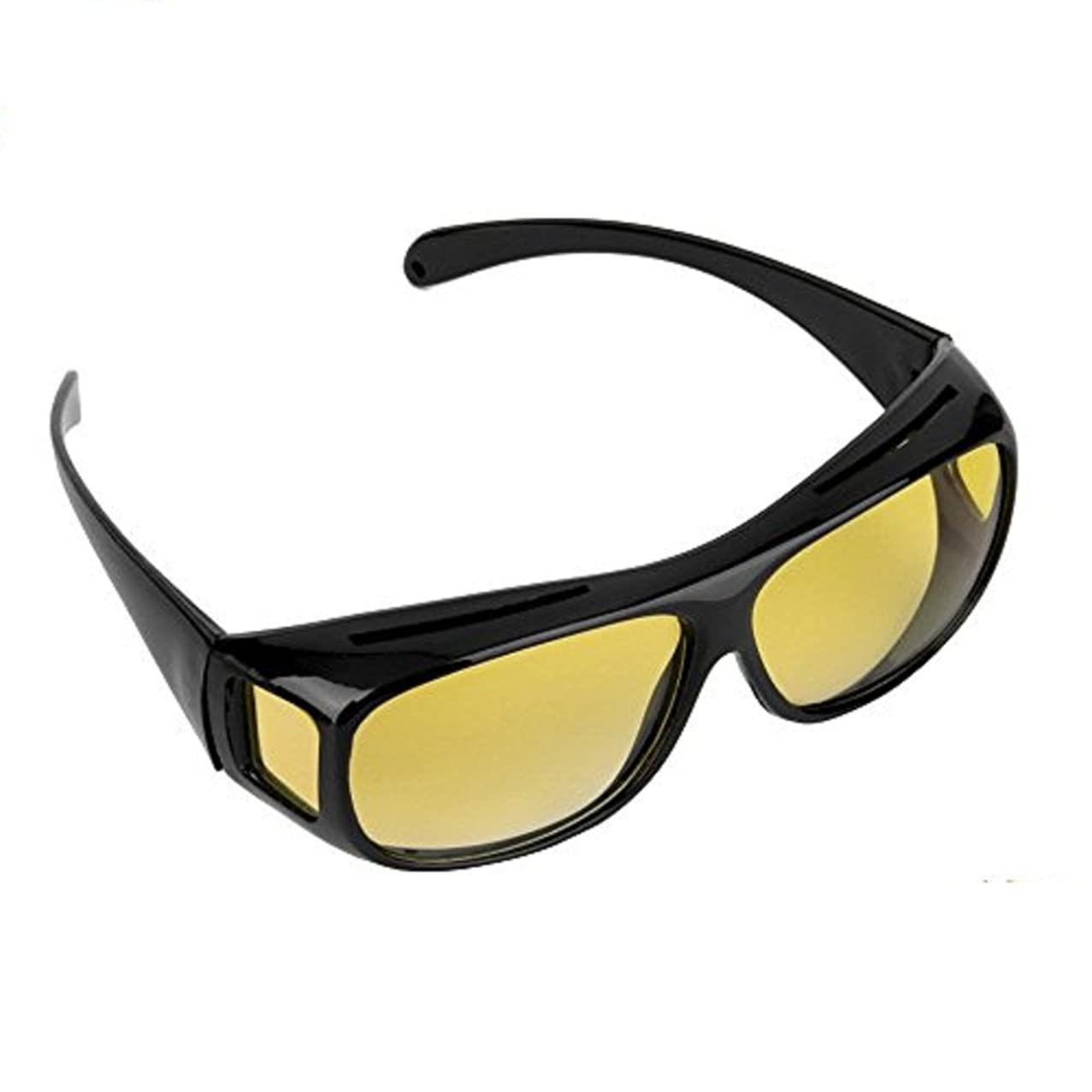 Night Vision Glasses Driving Polarized Black/Yellow Wrap Around Windproof Prescription Eyewear Unisex Sunglasses UV400 Protective Protection Glasses Goggles US Stock by Lucky Shop