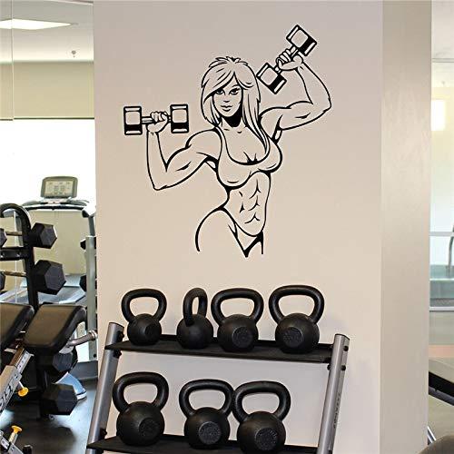 yaonuli vrouwelijke spierwandsticker turnhall fitnessruimte vinyl sticker afneembare turnhal muurschildering