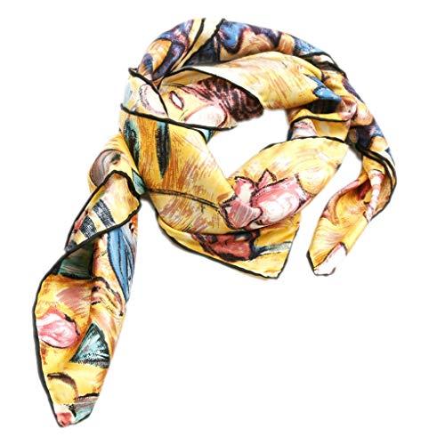 prettystern Fular foulard de seda mujer con estampado Art Nouveau Gustav Klimt...