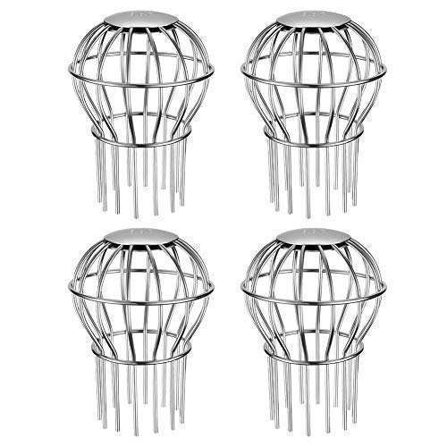 Gutter Guard 3 Inch 304 Stainless Steel Filter Strainer, Stops Leaves Seeds and Other Debris Gutter Cleaning Tool – 4 Pack