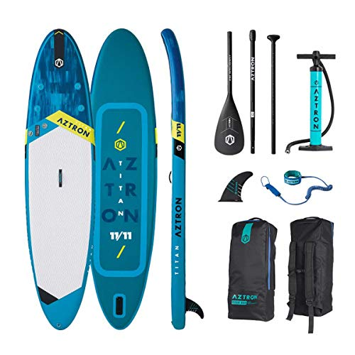 Aztron Titan All Around Inflatable SUP Board 11'11' incl. Adjustable Aluminum Paddle and Leash