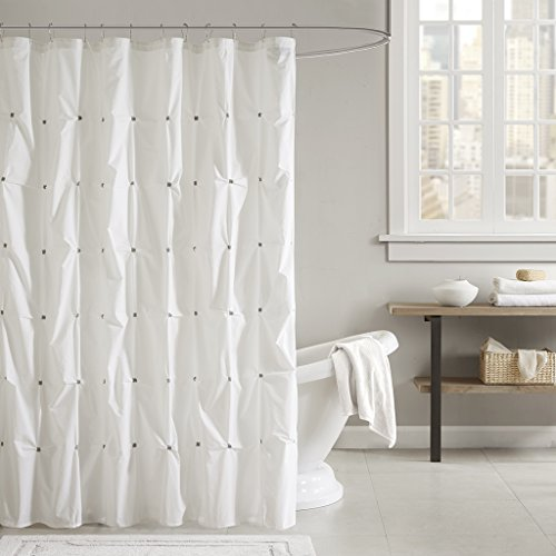INK+IVY Masie Cotton Shower Curtain 72x72 White, 72 x 72