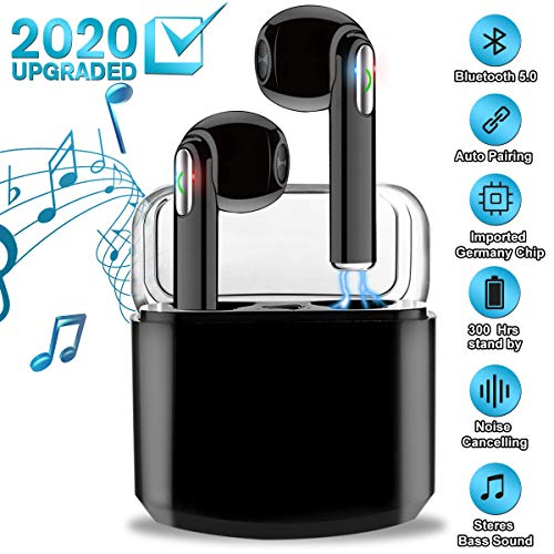 Wireless Earbuds with Charging Case,Bluetooth Earbuds with Mic for Running,Wireless Earphones Bluetooth Earphones