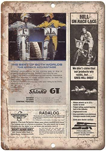 """FQDIQI of 12""""x16"""" Metal Sign - GT, Greg Hill, Shinko, BMX Ad Vintage Look Retro Look B57 -  FQtph20201021-1095"""