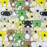 Pingianer 11,99€/m Koala 100% Baumwolle Baumwollstoff