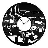 カートヴィンテージビニールレコードウォールクロック3Dモダンデザインユニークギフトホームルームデコレーション