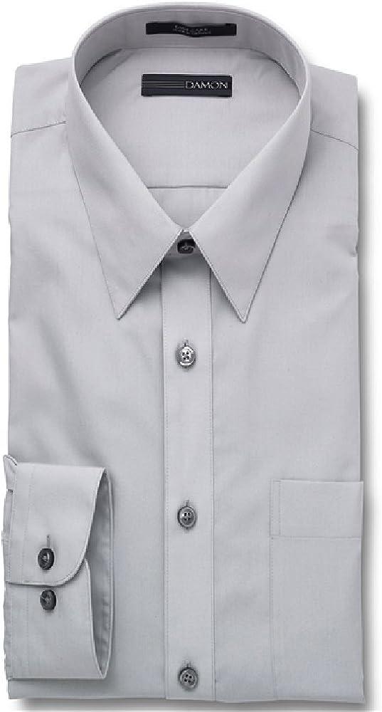 Enro Extra Full Body Stout Mens Big and Tall Grey Dress Shirt Damon